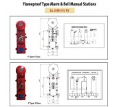 Flameproof Type Alarm & Bell Manual Stations