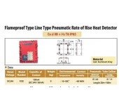 Flameproof Type Line Type Pneumatic Rate of Rise Heat Detector