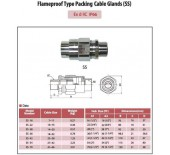 Flameproof Type Packing Cable Glands (SS)