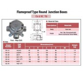 Flameproof Type Round Junction Boxes