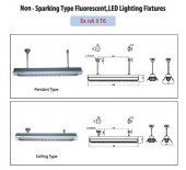 Non-sparking Type Fluorescent, LED Lighting Fixtures